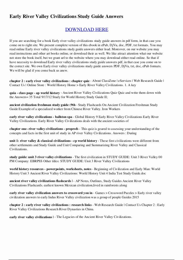 River Valley Civilizations Worksheet Luxury River Valley Civilizations Worksheet Answer Key