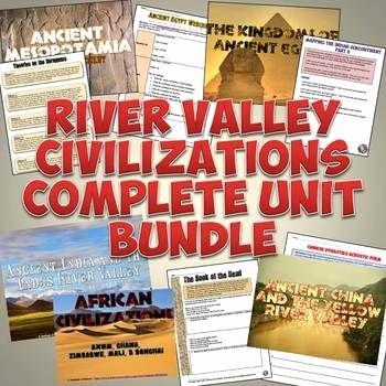 River Valley Civilizations Worksheet New River Valley Ancient Civilizations Plete Unit Set