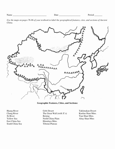 River Valley Civilizations Worksheet Unique Ancient China Huang He Yellow River Valley 3 Different