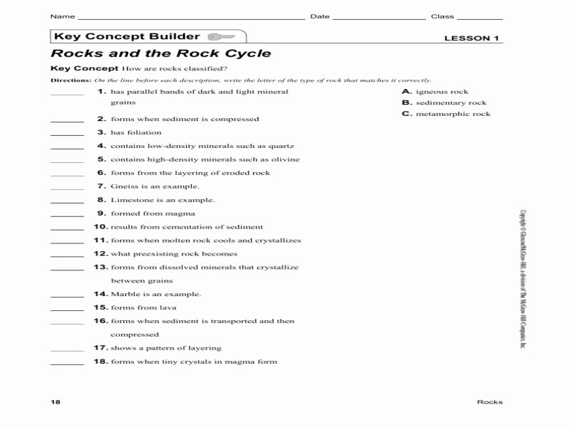 Rock Cycle Worksheet Answers Luxury Rock Cycle Worksheet Answers Free Printable Worksheets