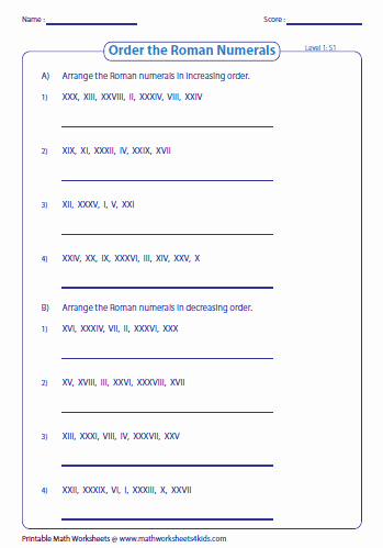 Roman Numerals Worksheet Pdf Inspirational Roman Numerals Worksheets