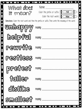 Root Words Worksheet Pdf Best Of Color the Root Word Base Word by First Grade Fancy