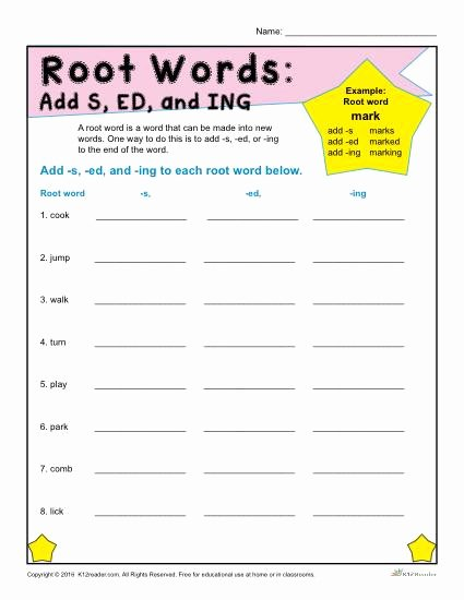 Root Words Worksheet Pdf Fresh Printable Root Words Worksheets