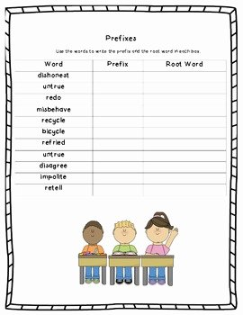 Root Words Worksheet Pdf Luxury Prefixes Worksheet Root Words and Prefixes by Excelling