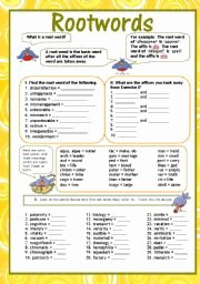 Root Words Worksheet Pdf Luxury Root Words Including some Latin Root Words Esl