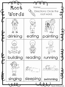 Root Words Worksheet Pdf Unique 10 Root Words Printable Worksheets In Pdf File Kdg 2nd