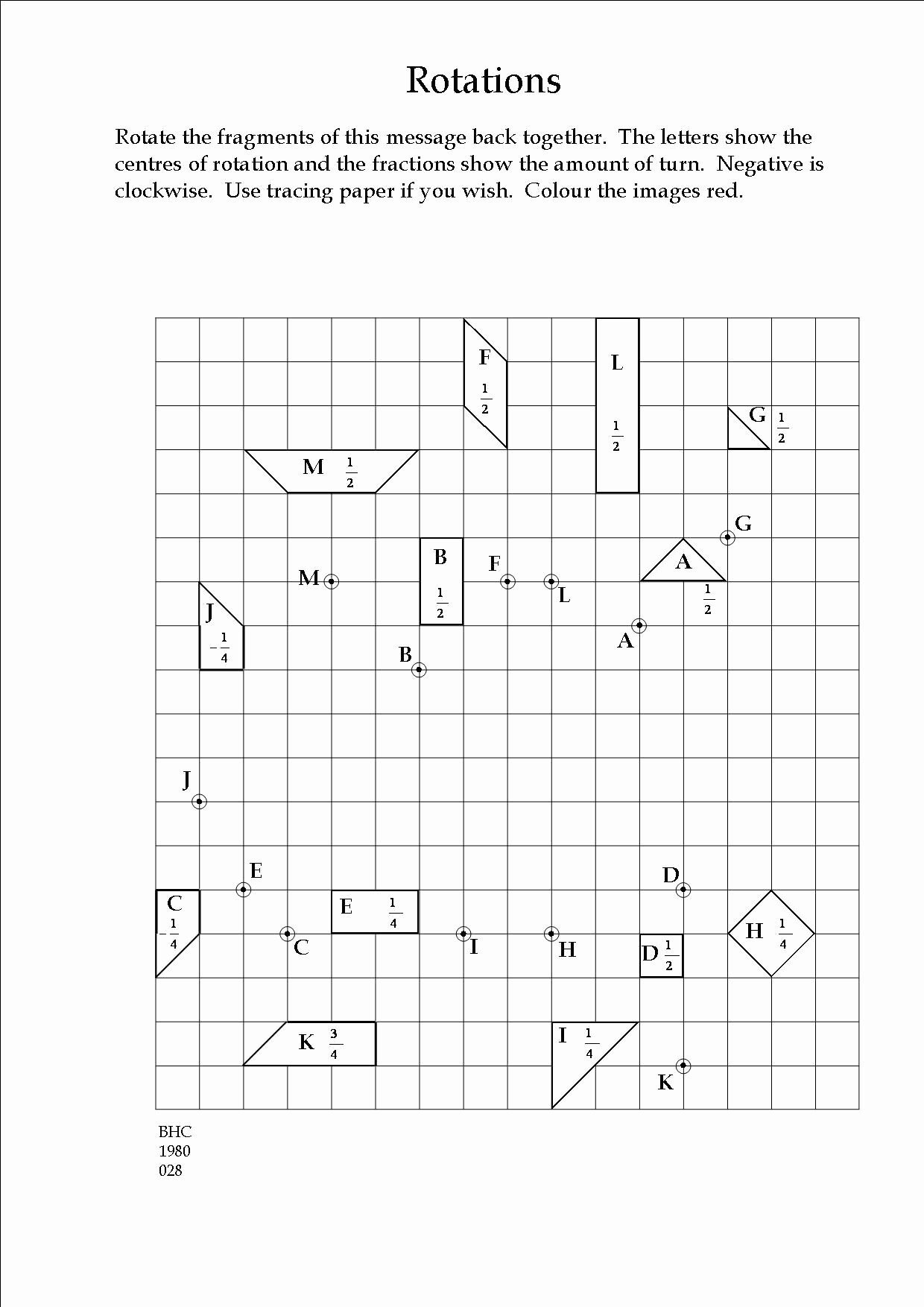 Rotations Worksheet 8th Grade Elegant An Exercise In Transformation Geometry