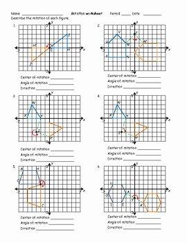 Rotations Worksheet 8th Grade Elegant Rotation Worksheet by Math Monkey