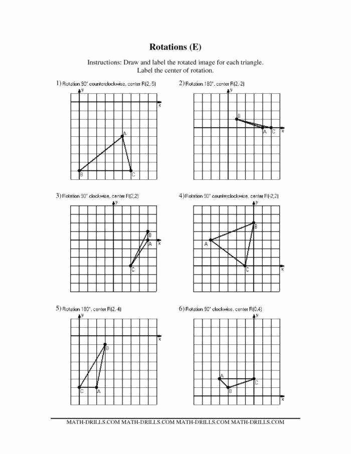 Rotations Worksheet 8th Grade Elegant Rotations Worksheet