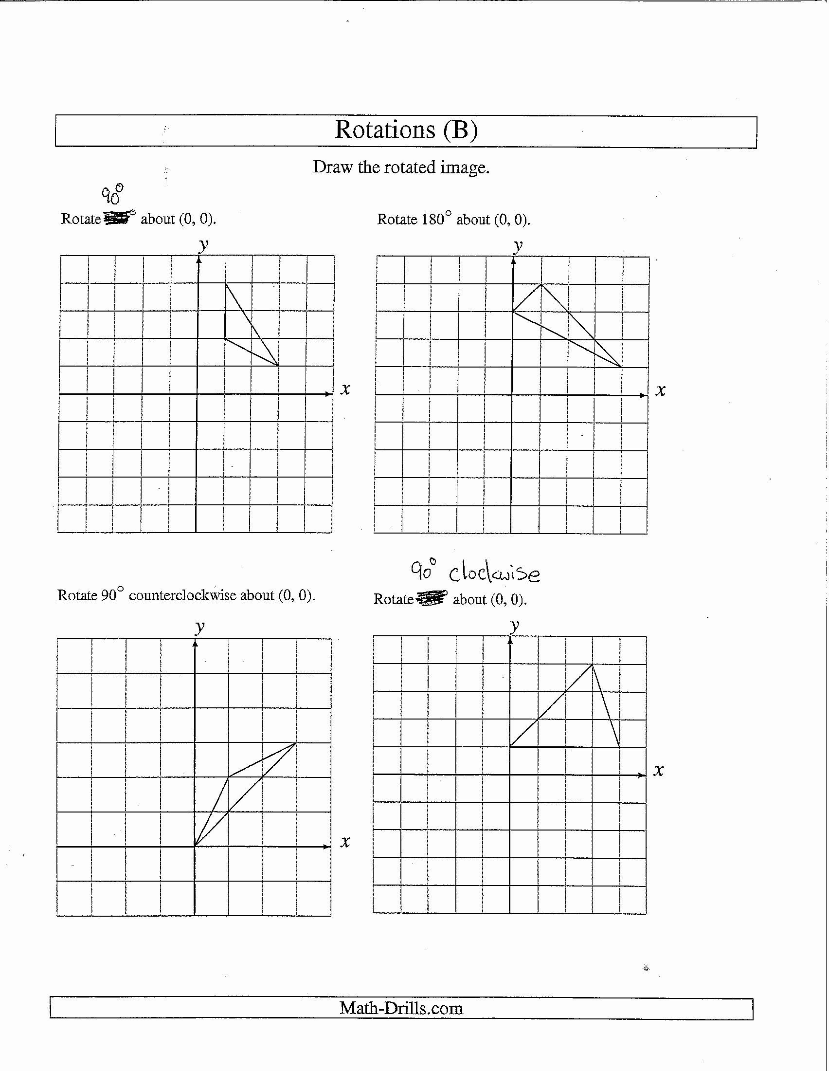 Rotations Worksheet 8th Grade Inspirational Transformations Geometry Worksheet