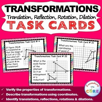 Rotations Worksheet 8th Grade Inspirational Transformations Translate Reflect Rotate Dilate Task