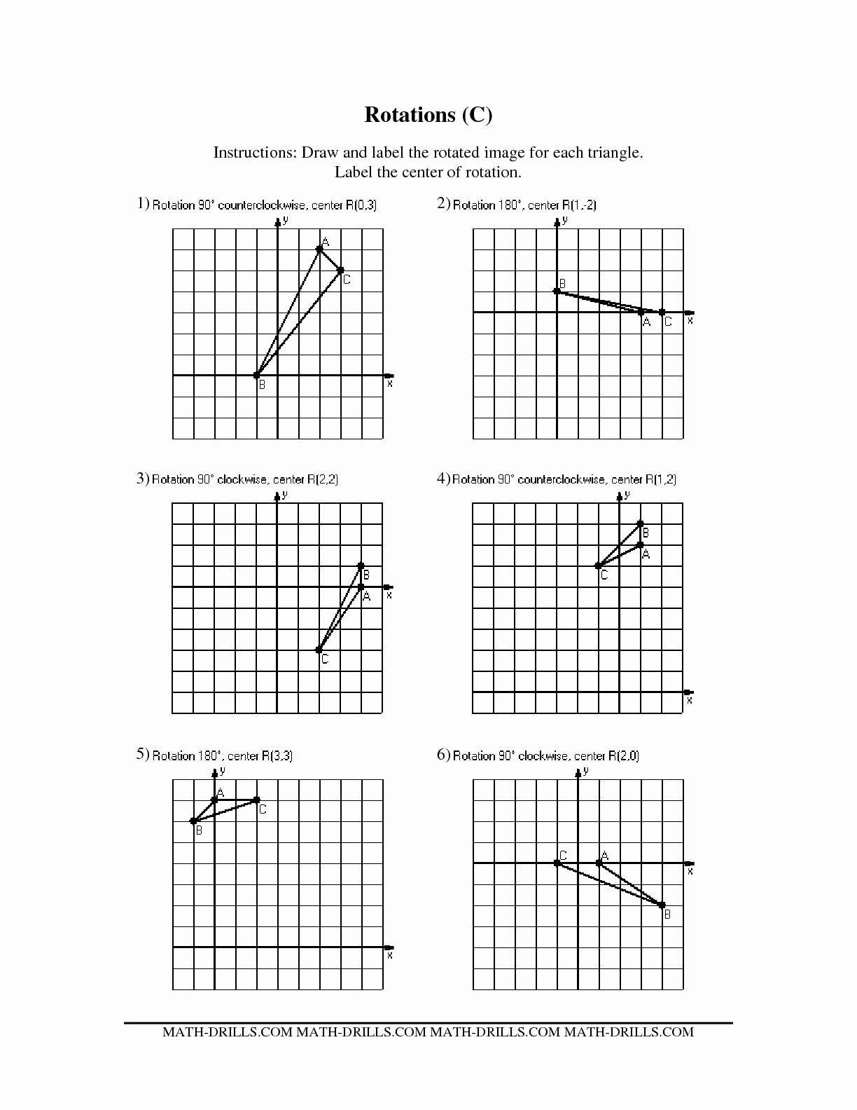 maths rotation worksheets picture