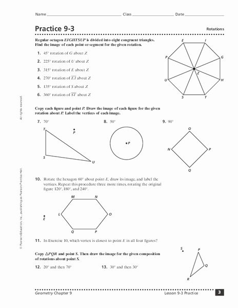 Rotations Worksheet 8th Grade Lovely Rotations Worksheet for 8th 10th Grade