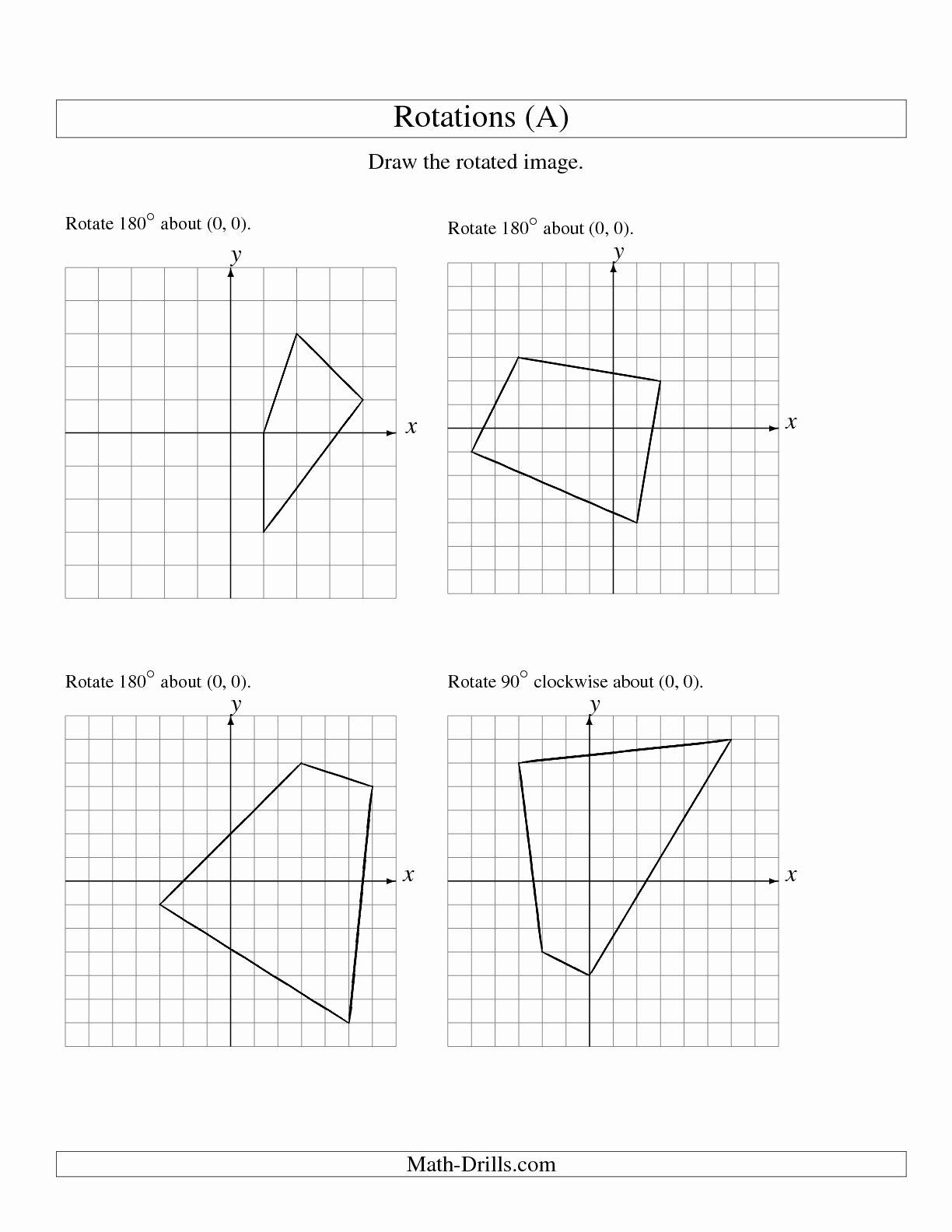 Rotations Worksheet 8th Grade Luxury 16 Best Of Rotations Worksheet 8th Grade Geometry