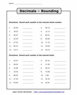 Rounding Decimals Worksheet 5th Grade Best Of Rounding Significant Figures Rounding Decimals Worksheet