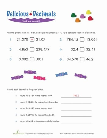 Rounding Decimals Worksheet 5th Grade Elegant 17 Best Images About Math Worksheets On Pinterest
