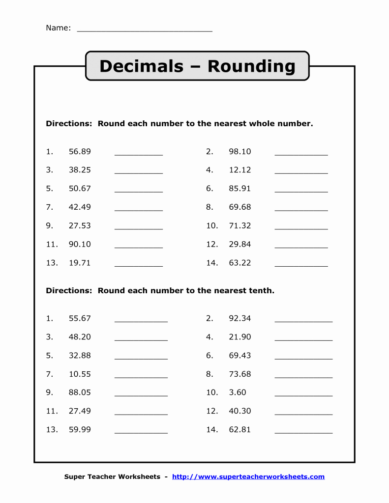 Rounding Decimals Worksheet 5th Grade Luxury Rounding Significant Figures Rounding Decimals Worksheet
