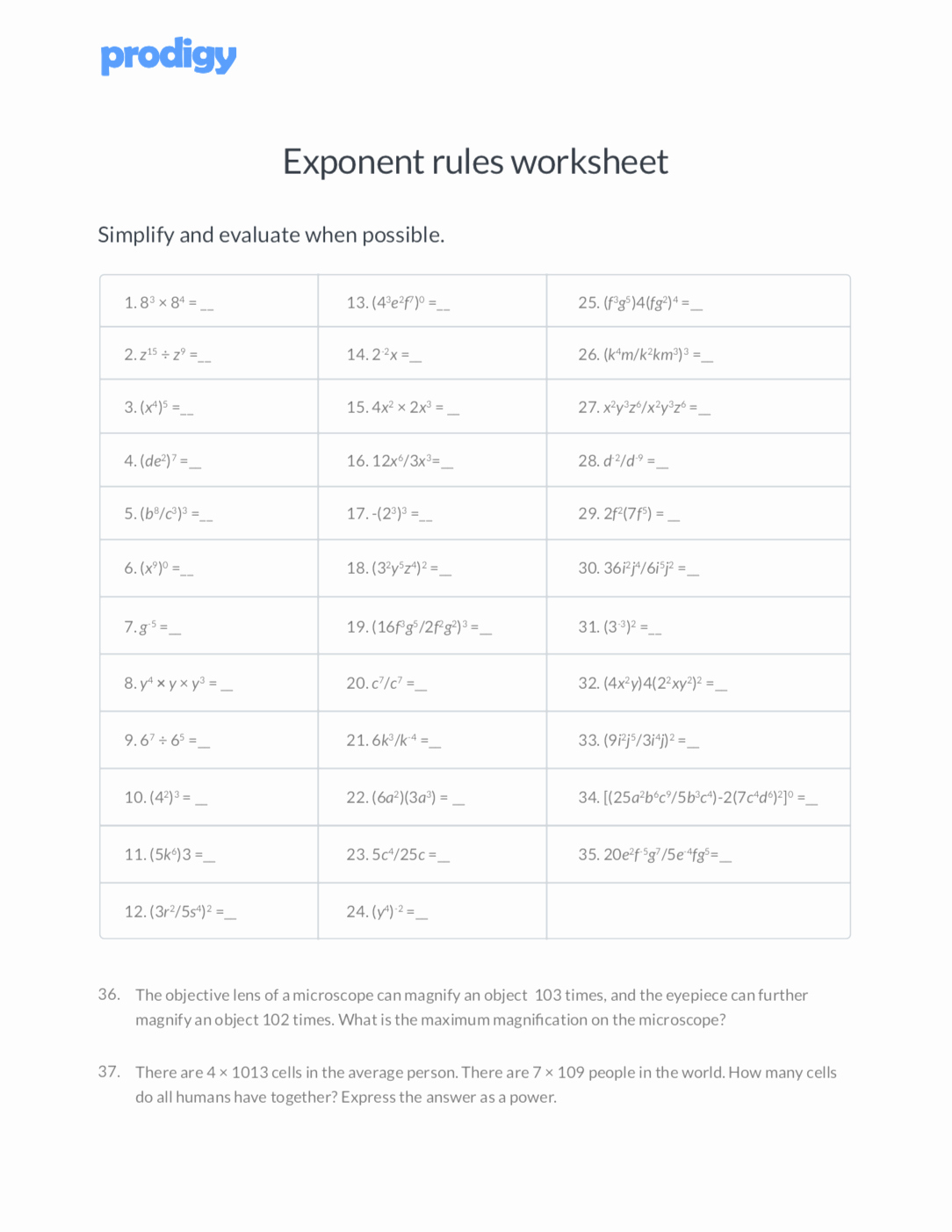 Rules Of Exponents Worksheet Pdf Beautiful Exponent Rules 7 Key Strategies to solve tough Equations