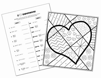 Rules Of Exponents Worksheet Pdf Best Of Exponent Rules Coloring Activity by All Things Algebra