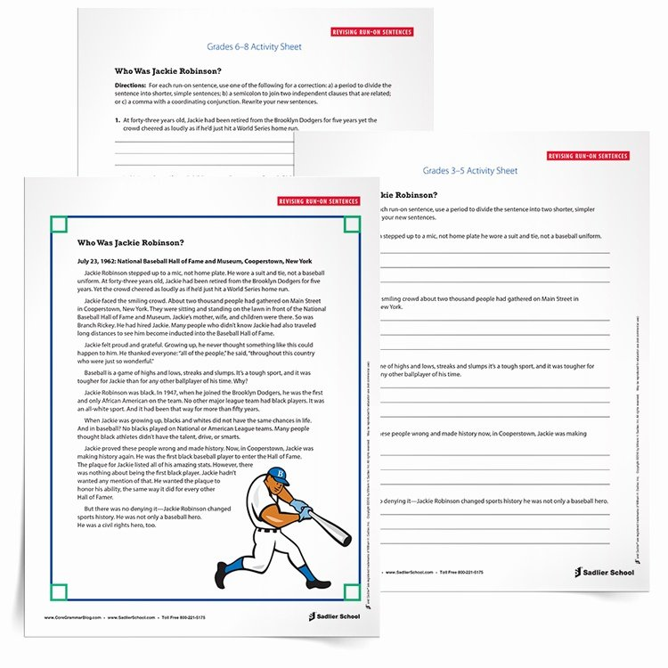 Run On Sentence Worksheet Luxury Run On Sentence Practice Activity for Students Grades 3–8