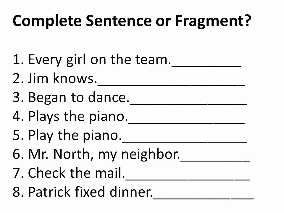 Run On Sentence Worksheet Pdf Beautiful Sentence Fragment Worksheet Free Printable Worksheets 3