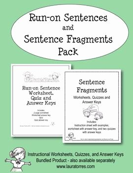 Run On Sentence Worksheet Pdf Luxury Run On Sentences and Sentence Fragment Pack