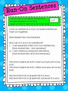 Run On Sentence Worksheet Pdf Unique Best 25 Run On Sentences Ideas On Pinterest