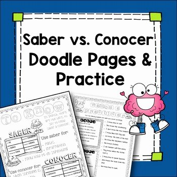 Saber Vs Conocer Worksheet Best Of Saber Vs Conocer Worksheet Saber Vs Conocer Worksheet