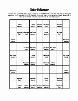 Saber Vs Conocer Worksheet Fresh Saber Vs Conocer Puzzle Pack by the Profe Store Llc