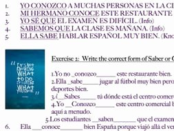 Saber Vs Conocer Worksheet Inspirational Saber Vs Conocer Worksheet Spanish by Mariammalek22