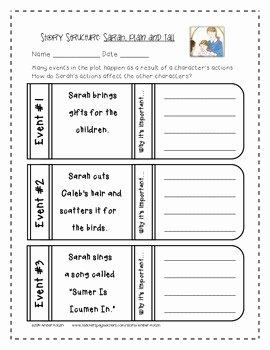 Sarah Plain and Tall Worksheet Beautiful Sarah Plain and Tall Mini Pack Activities 3rd Grade