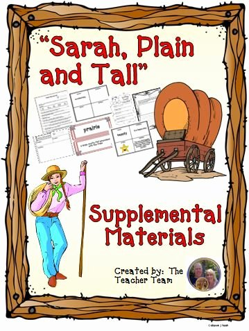 Sarah Plain and Tall Worksheet Best Of Sarah Plain and Tall Journeys Third Grade Supplemental