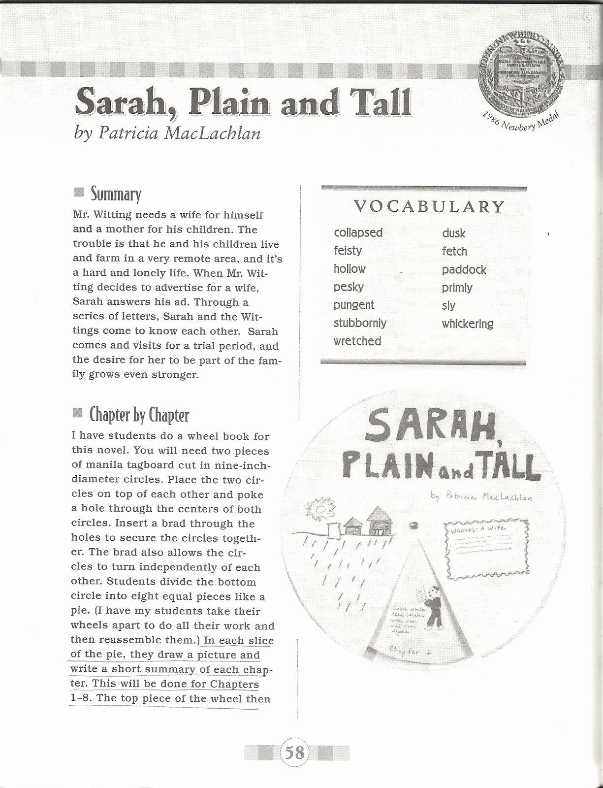 Sarah Plain and Tall Worksheet Fresh Homemaker S Journal Book Review Sarah Plain and Tall