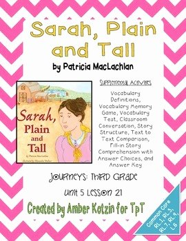 Sarah Plain and Tall Worksheet Luxury Sarah Plain and Tall Activities 3rd Grade Journeys Unit 5