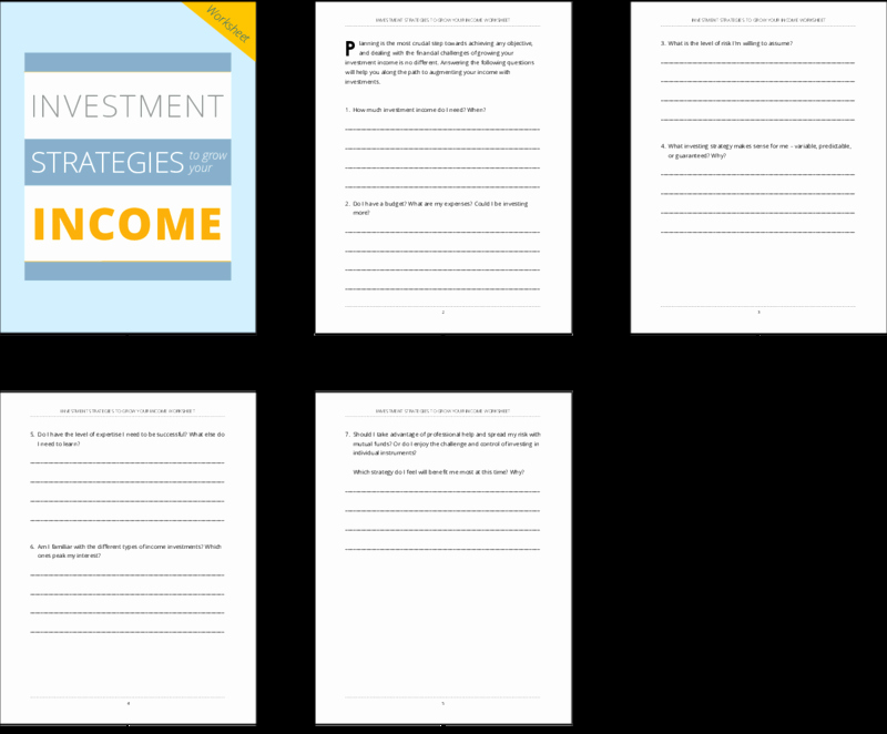 Saving and Investing Worksheet Beautiful Done for You Worksheets Investment Strategies to Grow