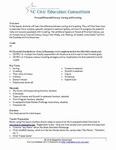 Saving and Investing Worksheet Lovely Personal Financial Literacy Saving and Investing