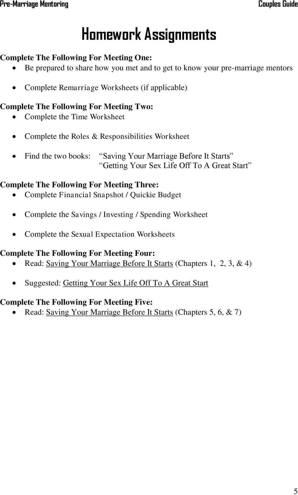 Saving and Investing Worksheet Luxury Pre Marriage Mentoring Couples Guide A Ministry Of
