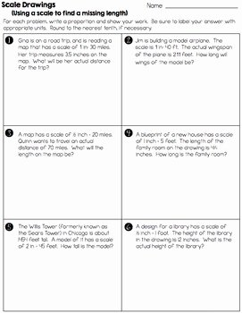 Scale Drawings Worksheet 7th Grade Beautiful Scale Drawings Practice Worksheets and assessment 7 G 1