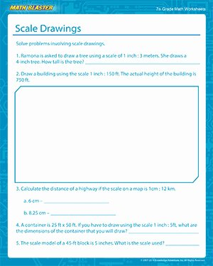 Scale Drawings Worksheet 7th Grade Elegant Scale Drawings Free Math Printables for 7th Grade