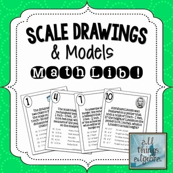 Scale Drawings Worksheet 7th Grade Lovely Scale Drawings and Models Math Lib
