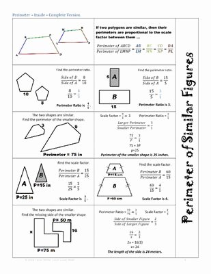 Scale Factor Worksheet 7th Grade Awesome 27 Best School Math Similar Figures Images On Pinterest