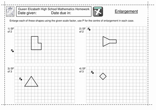 Scale Factor Worksheet 7th Grade Inspirational Ks3 Enlargement by A Scale Factor Worksheet by Jlcaseyuk