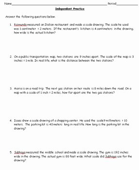 Scale Factor Worksheet 7th Grade Luxury 7th Grade Geometry Scale Factors and Similar Figures