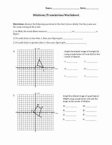 Scale Factor Worksheet with Answers Awesome Dilations Worksheet