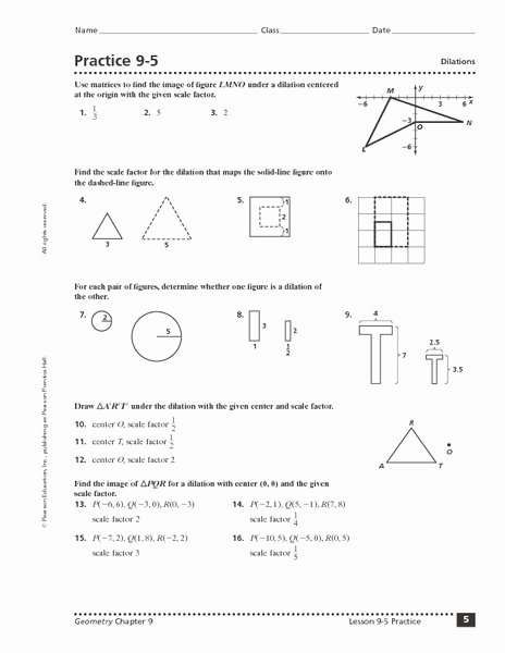 Scale Factor Worksheet with Answers Elegant Practice 9 5 Dilations Worksheet for 9th 12th Grade