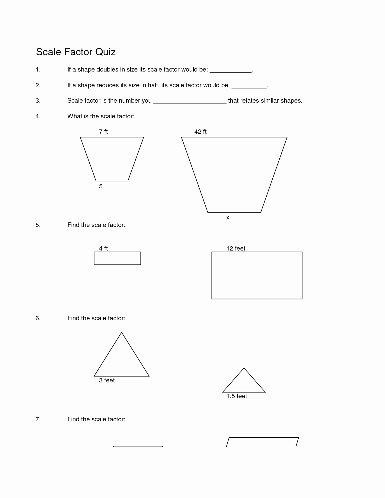 Scale Factor Worksheet with Answers Fresh 8 Best Of Math Worksheets with Scale Factor Scale