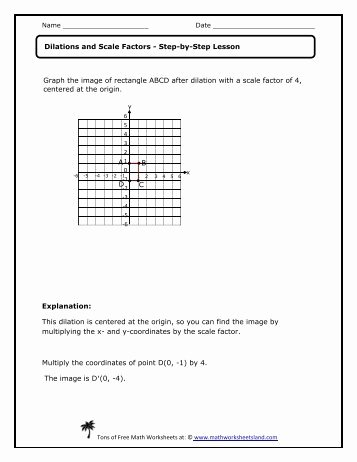 Scale Factor Worksheet with Answers Fresh Dilations and Parallel Lines Independent Practice