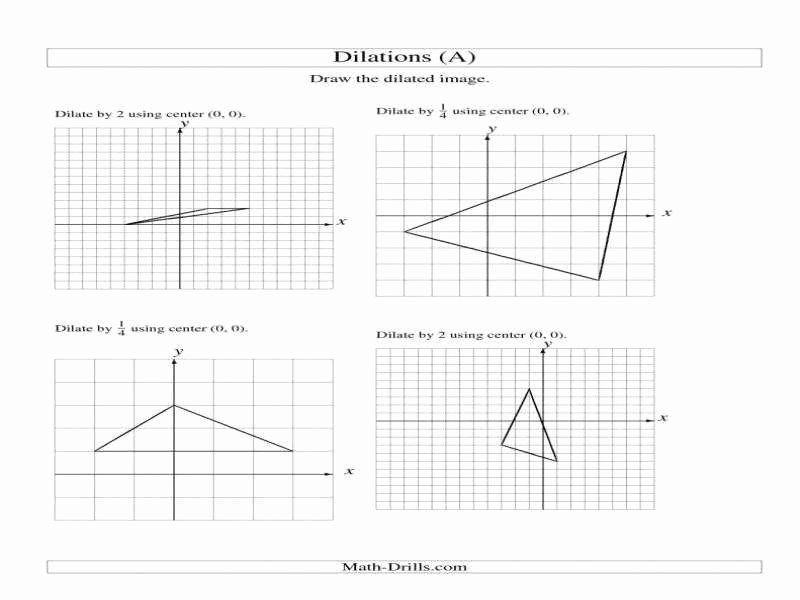 Scale Factor Worksheet with Answers Fresh Dilations Worksheet
