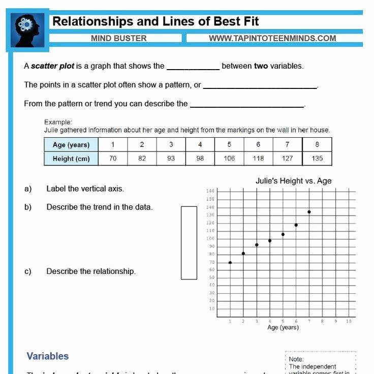 Scatter Plot Correlation Worksheet Lovely Scatter Plot Worksheets