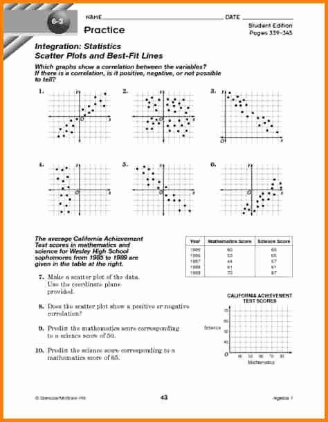 Scatter Plot Practice Worksheet Elegant Scatter Plot Worksheets